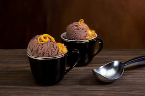 Lody czekoladowe z konfiturą pomarańczową