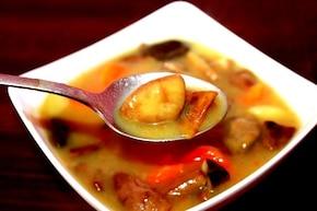 Jesienna zupa z podgrzybkami