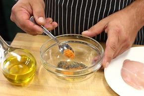 Kanapka z pieczonym kurczakiem i warzywami – krok 1