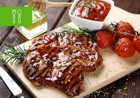 Zgrillowana para - sałatka i mięso