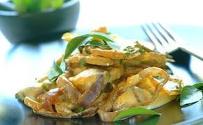 Kremowe curry z ziemniaków z kolendrą
