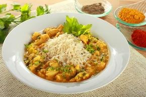 Kurczak curry z wiórkami kokosowymi