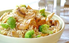 Kurczak i brokuły z ryżem