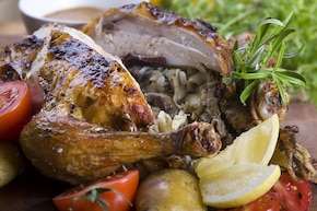 Kurczak nadziewany makaronem