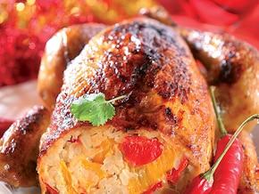 Kurczak nadziewany ryżem i papryką