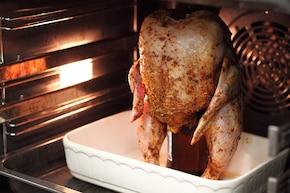 Kurczak pieczony na butelce  – krok 2