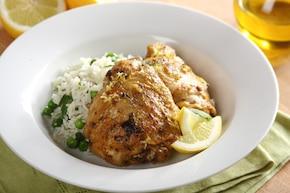 Kurczak pieczony w cytrynie z szałwią