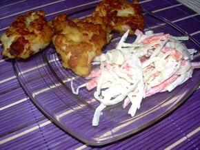 Kurczak w FIT panierce z chrupiącą sałatką