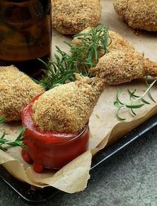 Kurczak w krakersach i parmezanie