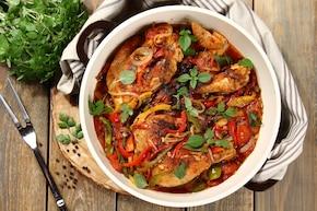 Kurczak z papryką, anyżówką i oregano
