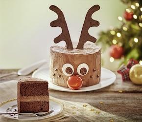 Świąteczny tort czekoladowy Rudolf