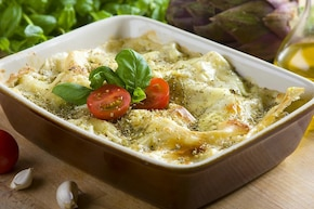 Lasagna serowa z bakłażanem