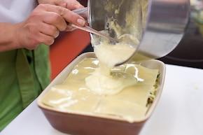 Lasagne ze szpinakiem i grzybami – krok 5