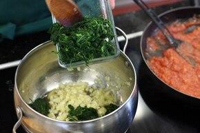 Lasagne ze szpinakiem i serem kozim  – krok 2