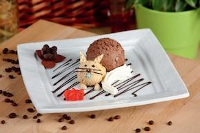 """Lody czekoladowe z bitą śmietaną """"Kot"""""""