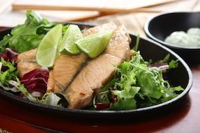 Łosoś po japońsku z wasabi