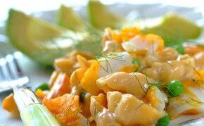Makaron z łososiem i mascarpone