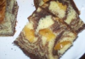 Marmurkowe ciasto z gruszkami