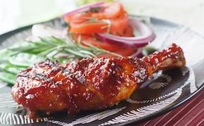 Marynowany kurczak z grilla zimową porą