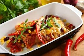 Meksykańskie naleśniki z warzywami