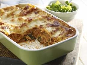 Lasagne ze szpinakiem i mięsem mielonym