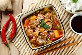 Mięsne kulki w sosie słodko-kwaśnym