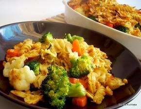 Mix makaronowy zapiekany z warzywami  – krok 1