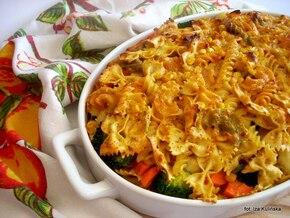 Mix makaronowy zapiekany z warzywami