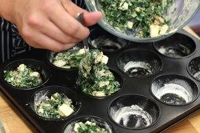 Muffinki ze szpinakiem – krok 5