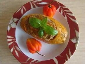 Nadziewany słodki ziemniak