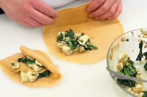 Naleśniki ze szpinakiem i camembertem – krok 5