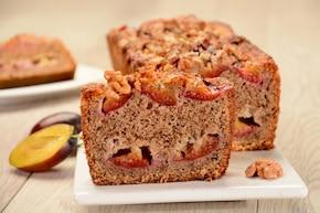 Ciasto orzechowe ze śliwkami