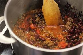 Ostre chilli con carne   – krok 5