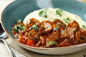 Ozorki w sosie pomidorowo-kaparowym