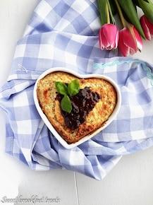 Sernikowe ciasto z komosy ryżowej nadziane czekoladą
