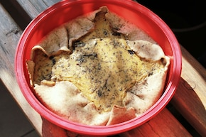 Pełnoziarnista tarta grzybowo – śmietanowa z tymiankiem