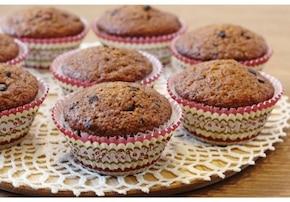Pełnoziarniste muffiny bananowe z czekoladą