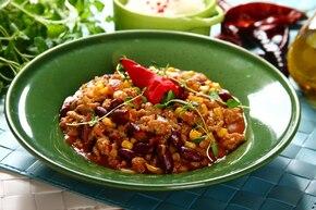 Pieczarkowe chili con carne
