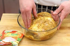Pieczona szynka z jabłkami – krok 1