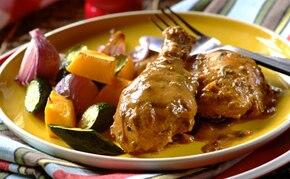 Pieczone pałki z kurczaka z sosem pieprzowym