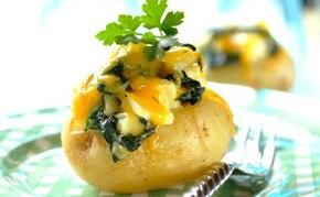 Ziemniaki ze szpinakiem