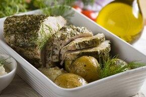 Pieczony schab z ziemniakami