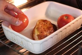 Pierś z indyka z gotowanymi warzywami, pieczonym pomidorem i brązowym ryżem – krok 2