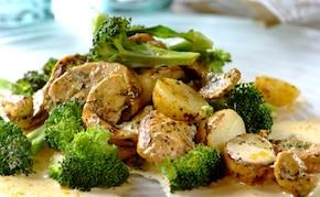 Piersi z kurczaka zapiekane z ziemniakami