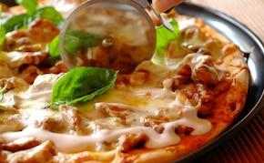 Pizza z kurczakiem i serem pleśniowym