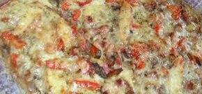 Pizza z papryką i pomidorami