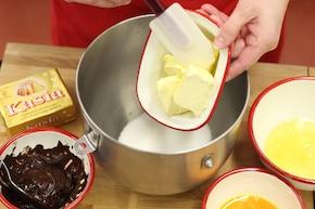 Ciasto czekoladowe z bananami – krok 1