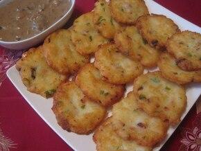 Placki kartoflane z boczkiem i pietruszką