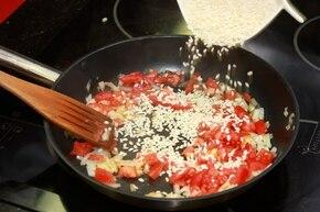 Pomidorowe risotto – krok 2