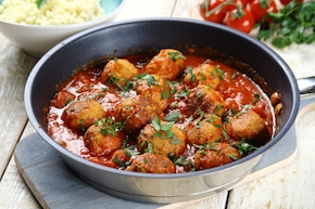 Gotowane pulpety w sosie pomidorowym